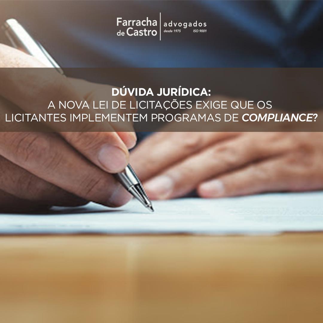 lei de licitações compliance